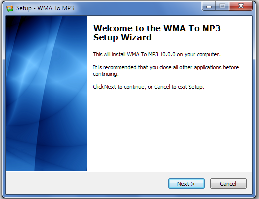 Install WMA to MP3 Converter