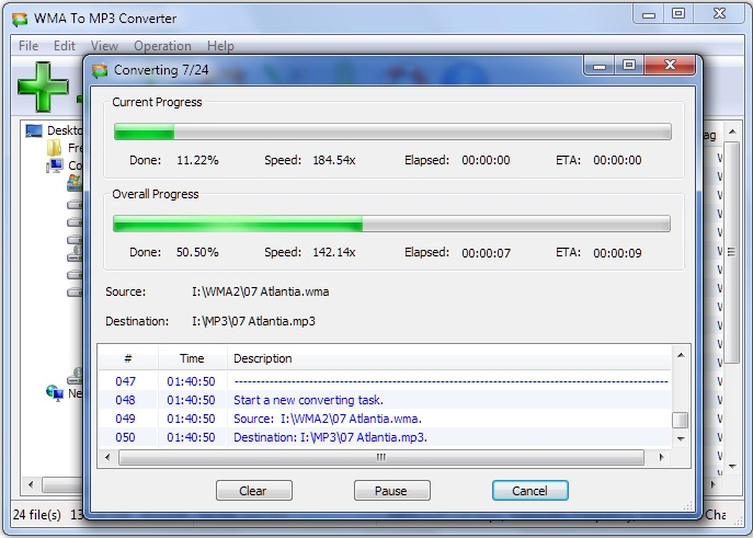 Click to view WMA To MP3 Converter 6.0.2 screenshot